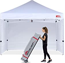MASTERCANOPY Ez Pop-up Canopy Tent 12x12 Commercial Instant Canopies with 4 Removable Side Walls and Roller Bag, Bonus 4 SandBags(12x12ft,White)