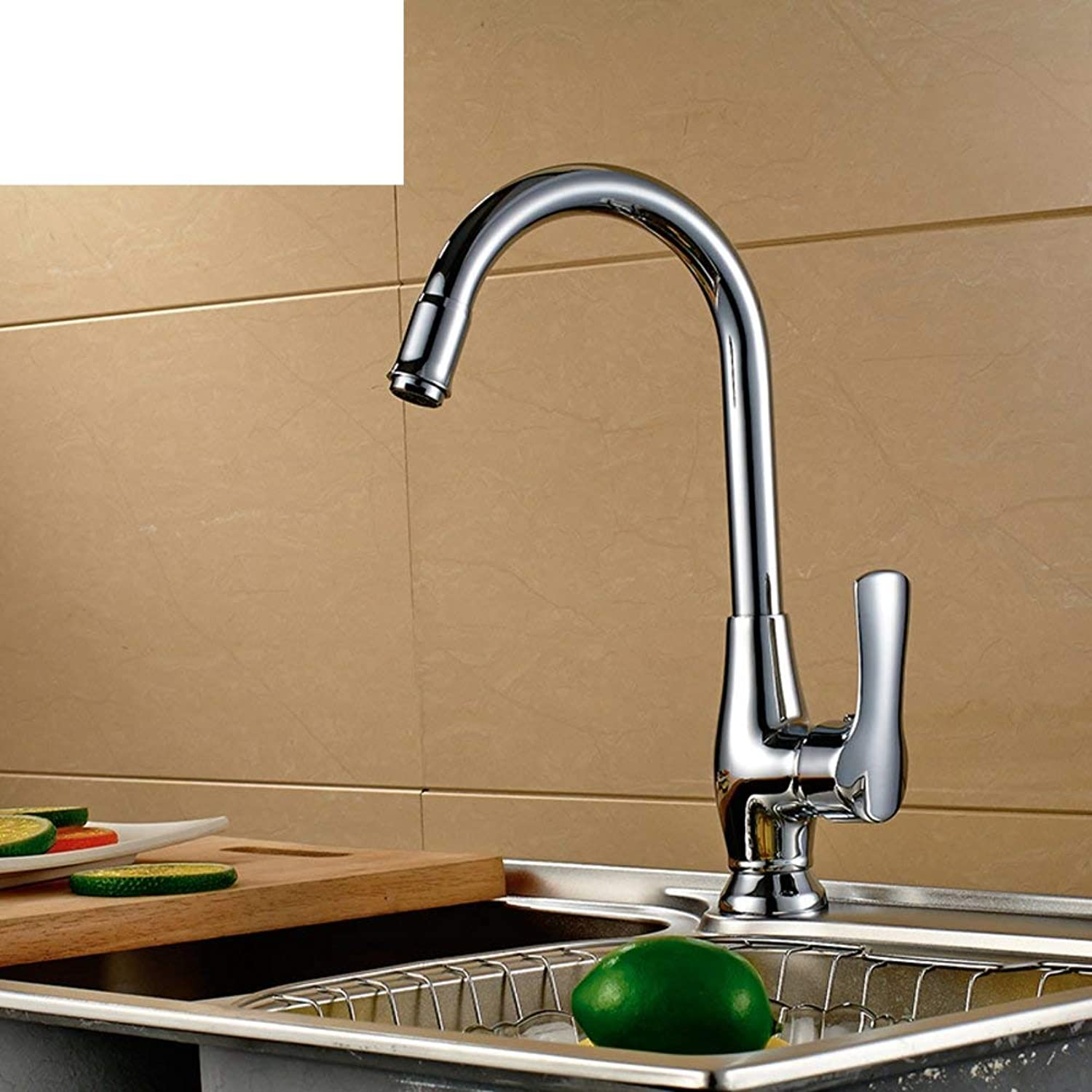 Oudan Hot and cold single-hole faucet sink basin Faucet to wash closet Kitchen Faucet (color   -, Size   -)