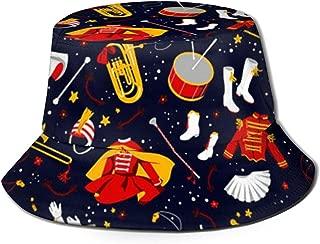 Marching Band Bucket Hat Summer UV Sun Fisherman Cap Unisex for Travel Beach Outdoor
