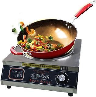 Cuisinière électrique à induction - Boîtier en acier inoxydable - Cuisinière portable - Plaque en cristal noir pour les fa...