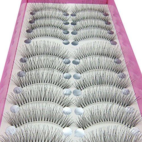 Polytree 10 Pairs Natural Thick Long Soft False Eyelashes Fake Eye Lash (Style 14)