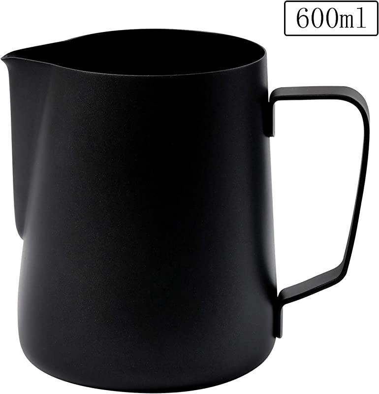 Milk Frothing Pitcher Stainless Steel Creamer Steaming Pitcher For Espresso Latte Art Coffee Frothing Cup Jug 600 Ml