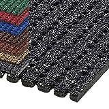 Alfombra de seguridad para superficies resbaladizas de ETM® | Color antracita | Revestimiento granulado antideslizante | Calidad alemana | 120 cm de ancho | Numerosas longitudes