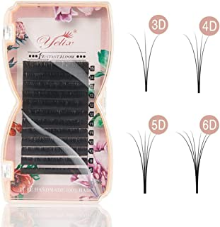 1 Second Blossom Eyelash Extensions Individual Easy Fan bloom lash Automatic Flowering Lashes 8-15mm Mixed Length by Yelix (C Curl 0.05mm Thickness)