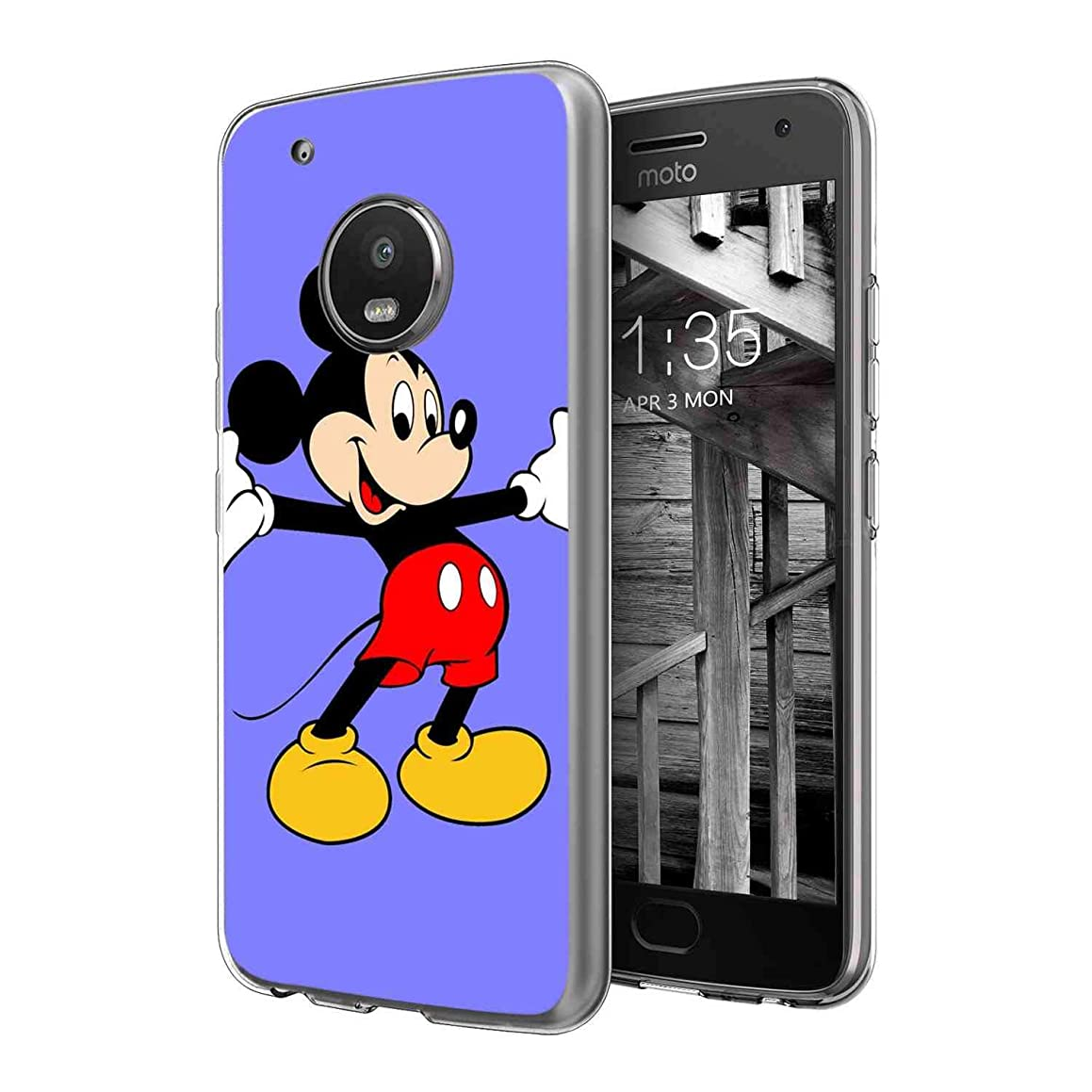 DISNEY COLLECTION Moto G5 Plus (2017) [5.5 Version] Cartoon Character Film Logo Mickey Mouse Star Tv