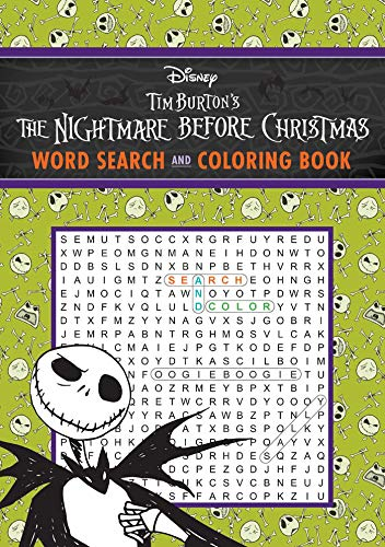 The Nightmare Before Christmas Word Search and Coloring Book (Coloring Book & Word Search)