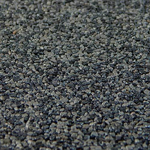 Terralith Buntsteinputz 15kg in grau-anthrazit, Sockelputz für Innen und Außen mit Reinacrylat Bindemittel aus Naturstein, 1-2mm Körnung (T58)