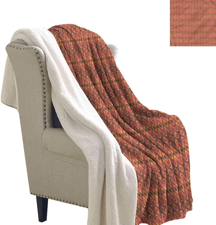 Beihai1Sun Geometric Blanket Small Quilt Vivid African Stripes Fleece Blanket 60x32 Inch