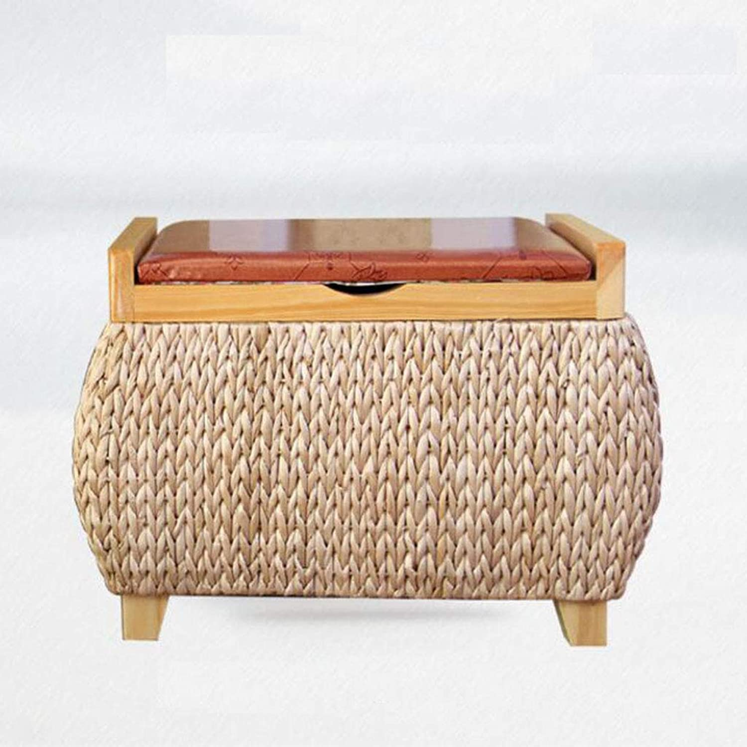 Cattail Handmade Storage shoes Stools Sofa Stools shoes Stools Storage Stools Sofas Stools (color   A1)