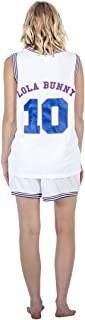 Space Jam Tune Squad Logo Lola Bunny #10 White Basketball Jersey