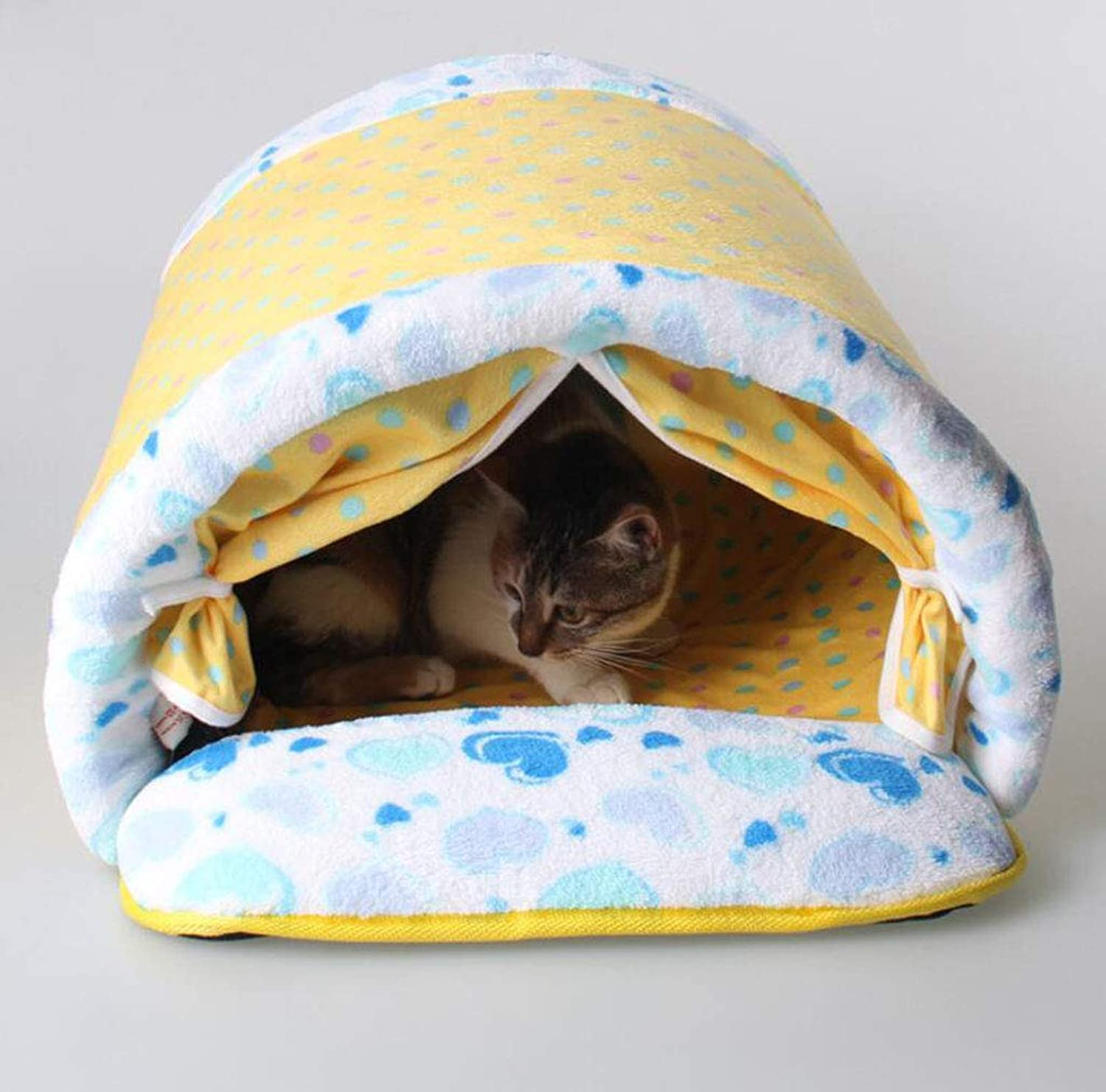 Cat Litter, Cotton Cat, Squat, Warm Cat, Sleeping Room, Warm Kennel,Yellow