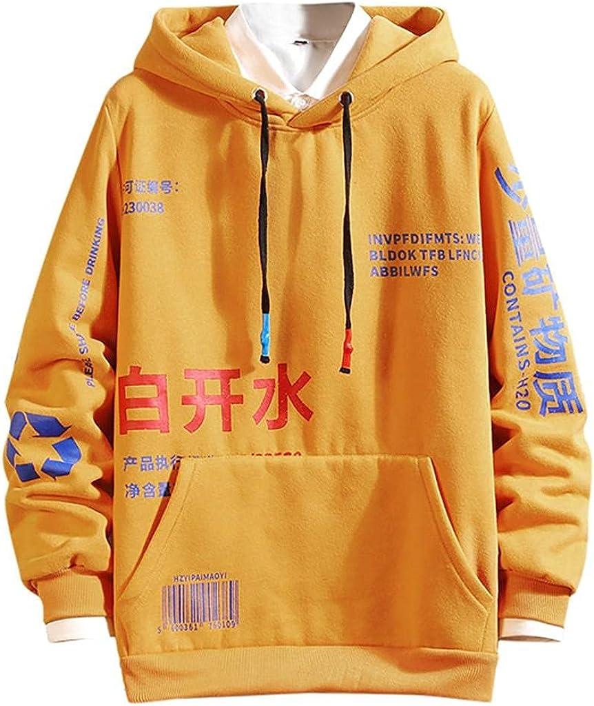 Mens Sweatshirts Contrast Color Pullover Hoodie Mens Patchwork Hoodies Men Long Sleeve Shirts Casual Loose Crewneck Top