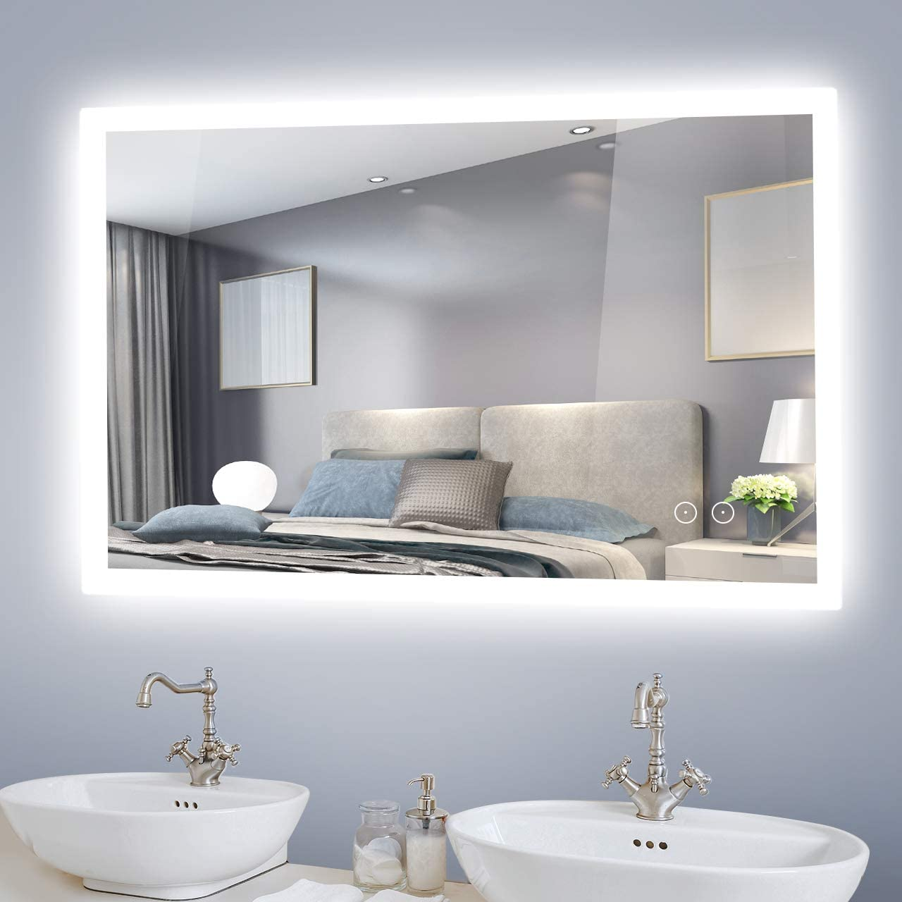 SLANG 36X28 inch LED 2021 spring and Challenge the lowest price of Japan summer new Mirrors for Mirror Bathroom Mounted An Wall