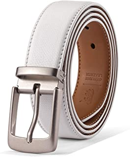 حزام رجالي 100% جلد البقر الإيطالي أحزمة كاجوال للرجال
