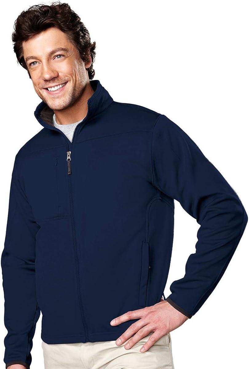 Men's Polyknit Lightweight Fleece Full Zip Contender Jacket (9 Colors, S-4XLT)