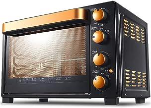 ZXYZZ Horno eléctrico horneado casero multifunción automático Puede Hacer Pastel de Gran Capacidad 32 litros Arriba y Abajo Control de Temperatura Independiente,Orange