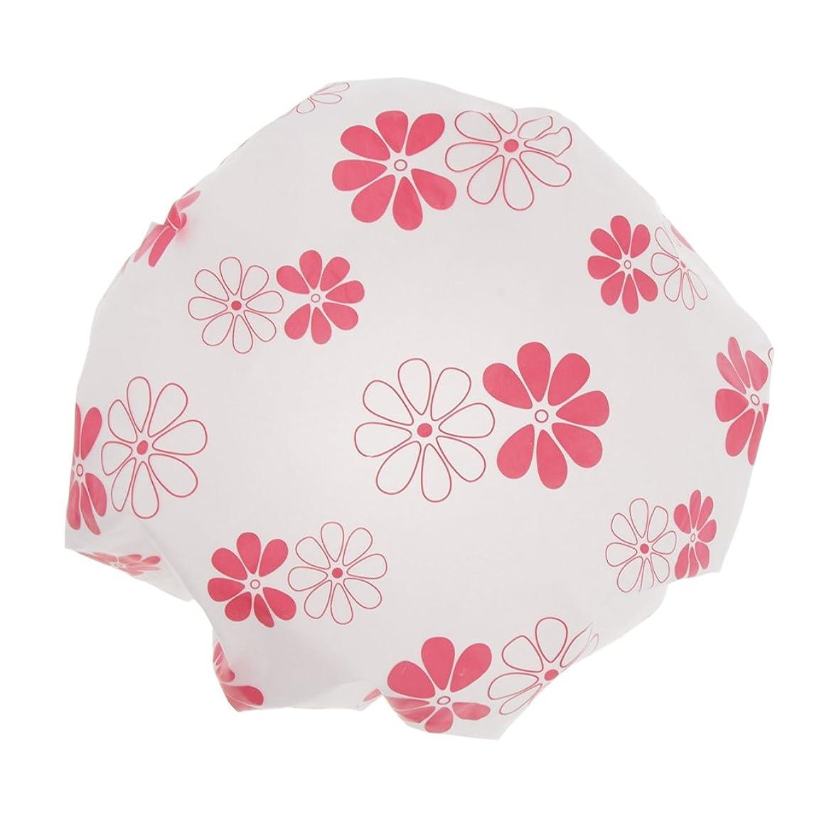 致命的奇跡音声学全3色 シャワーキャップ 可愛い ヘアキャップ 防水帽 入浴キャップ 帽子 お風呂 シャワー 弾性 再使用可 - ピンク