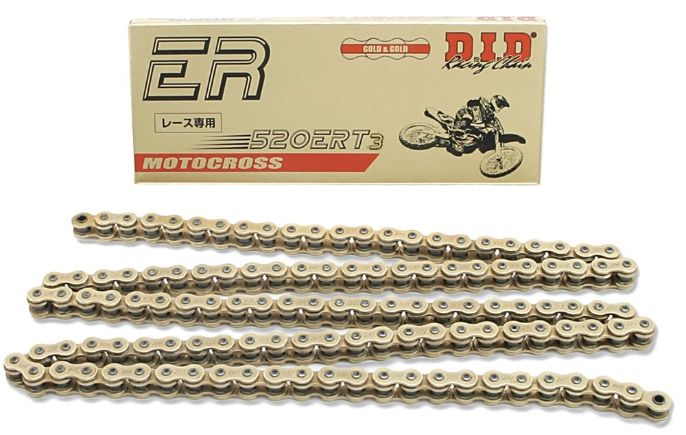 DID 520ERT3-150 Gold 150 Links High Performance Racing Chain with Connecting Link D.I.D