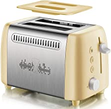 2-Slices Toaster Electric Bread Toaster with Dust Cover Cancel Defrost Reheat Function 6 Settings of Browning Sandwich Mak...