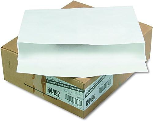 envio rapido a ti Tyvek Booklet Expansion Expansion Expansion Mailer, 12 x 16 x 2, blanco, 18lb, 100 Carton  Envíos y devoluciones gratis.