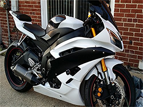 NT FAIRING Glossy White Matte Black Injection Mold Fairing Fit for Yamaha 2006 2007 YZF R6 New Painted Kit ABS Plastic Motorcycle Bodywork Aftermarket