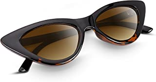 FEISEDY Vintage Cat Eye Sunglasses Women Clout Goggles Triangle Frame B2248