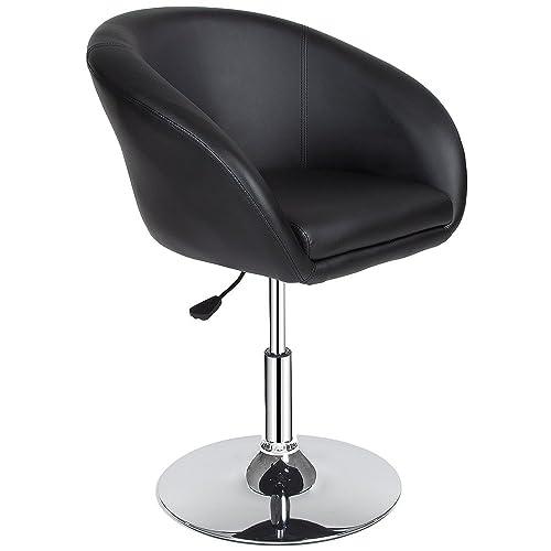 TecTake Tabourets de Bar Chaise Fauteuil bistrot réglable pivotant siège Design - diverses modèles - (1x Bernhard   no. 401573)