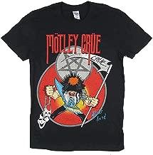 WSCITON Motley Crue Allister Fiend Black T Shirt for Men