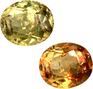 Deluxe Gems 3.65 ct Oval Cut (10 x 9 mm) Unheated/Untreated Turkish Color Change Diaspore Natural Loose Gemstone