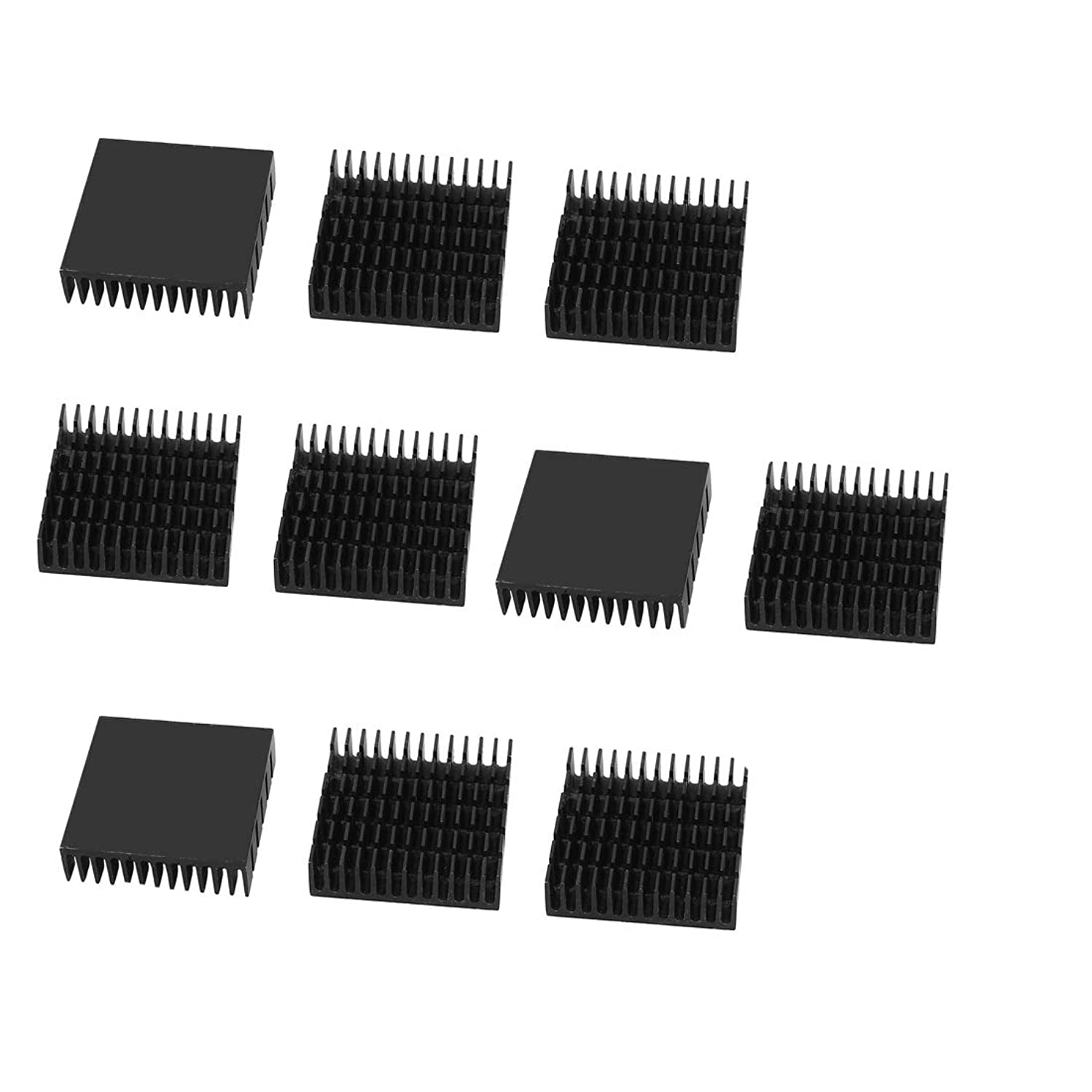 HGElectronic Cooling Module 10 Pcs 40mm x 40mm x 11mm Aluminium Heat Sink Heatsink Heat Dissipation Cooler Fin 10Pcs