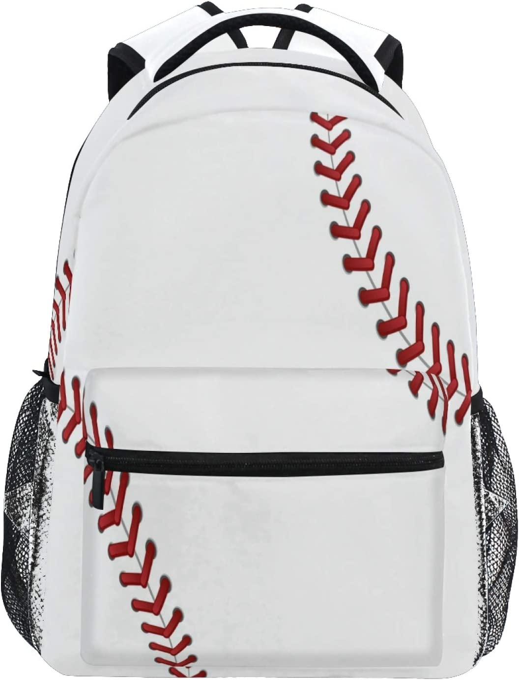 Qilmy Baseball Today's only Laces Backpack Large Resis Backpacks Laptop Chicago Mall Water