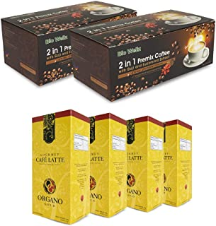 【2 Boxes】Instant Coffee Alternative Sugar Free Enhance with Superfood Goji Berry Extract + 4 Boxes Organo Gold Gourmet Caf...