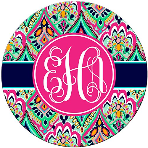 Custom Mouse Pads, Personalized Mouse Pads, Pretty Floral Jewels Monogram Monogrammed MPP