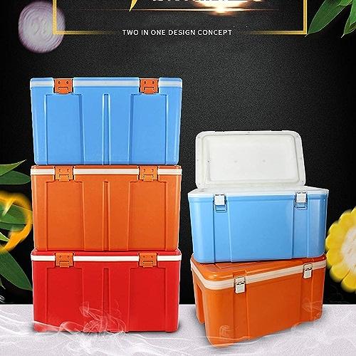 XQY Car Fridge-Perforhommece Cooler   Xtreme Cooler Heavy Duty 63.4 - Un refroidisseur rapide pour le camping, les barbecues, le talonnage et les activités de plein air,rouge,60L