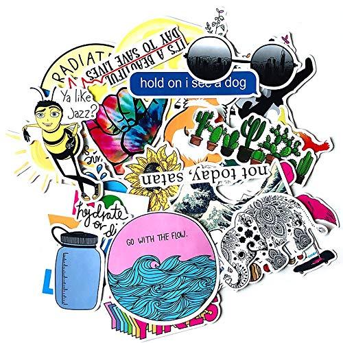 Wawale Cartoon-stickers, roze, voor koffer, koelbox, laptop, waterdicht, voor motorfiets, trolley, waterdicht