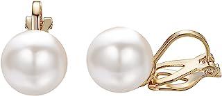 Yoursfs Faux Pearl Clip on Earrings for Women Dainty Sunflower Flower Style Cocktail Wedding Clip-on Earrings…