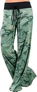 Womens Printed Loose Wide Leg Palazzo Lounge Pajama Baggy Yoga Pants Drawstring