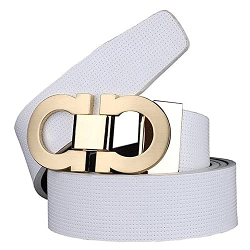 892eebbcbbed Men s Smooth Leather Buckle Belt 35mm Leather up to 42inch (105-115cm for  Choose