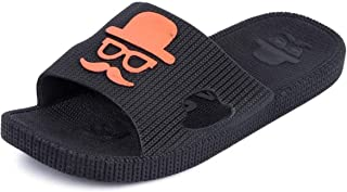 PeniLo Black Boy's Flip Flop Slippers for Beach and Home (6 UK)