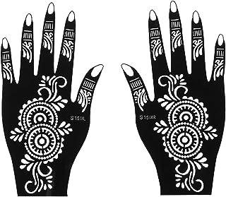 CQHUI Professionele Henna Stencil Tijdelijke Hand Tattoo Body Art Sticker Sjabloon Bruiloft Tool India Flower Tattoo Stenc...