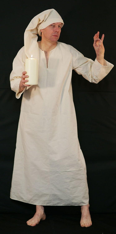 CL COSTUMES Bühne-Panto-Dickens-A Weihnachten Carol-Dagobert-Wee Willie Winkie Nachthemd   Nachthemd & Mütze Unisex Maskenkostüm - Alle Gren - Wie abgebildet, Men  XXX-Large