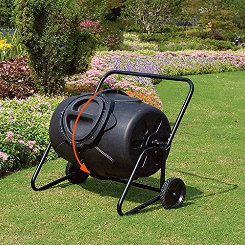 CRZJ Bidone per Compost da Giardino, Bidoni per rifiuti da Giardino da 45 galloni, Bicchiere per Compost, Compostiera Girevole a 360 ° per Esterni, con Ruote