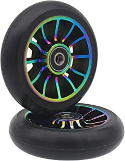 aibiku Pro Stunt Scooter Wheel 100mm Replacement Wheels with ABEC-11 Bearing-2 PCS