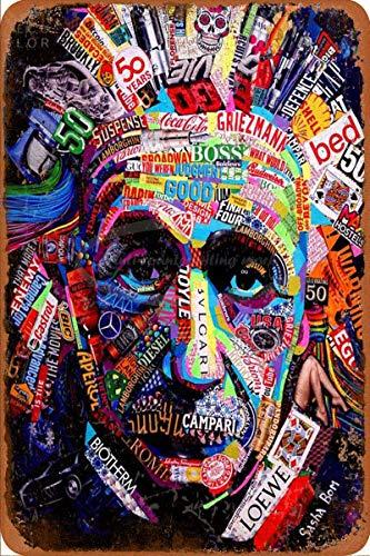 HONGXIN Einstein of the Brand Vintage Metall-Blechschild für Zuhause, Bar, Kneipe, Garage, Dekoration, Geschenke, Band, Bier, Eier, Kaffee, Supermarkt, Bauernhof, Garten, Schlafzimmer