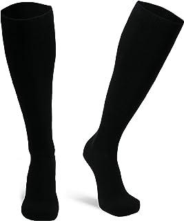 Calcetines de Compresión de Algodón Orgánico, para Mujer y Hombre, para Deporte, Running, Varices, Recuperación, Embarazo, Circulación Sanguínea, Vuelos, Trombosis, Enfermeras, Médicos, 1 y 3 Pares