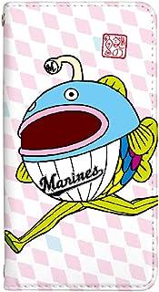 スマホケース 手帳型 ベルトなし hw01k ケース 8392-A. 第2形態 HW01K ケース 手帳 [HUAWEI P20 PRO HW-01K] ファーウェイ ピー ニジュウ プロ 千葉ロッテマリーンズ 謎の魚