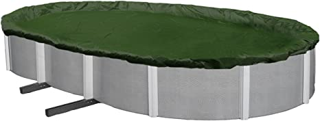 Blue Wave BWC820 Silver 12-Year 15-ft x 30-ft Oval Above Ground Pool Winter Cover,Forest Green