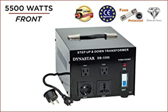Dynastar Step Up & Step Down Voltage Converter and Transformer, 110-220 to 220-240 Volts; Heavy...