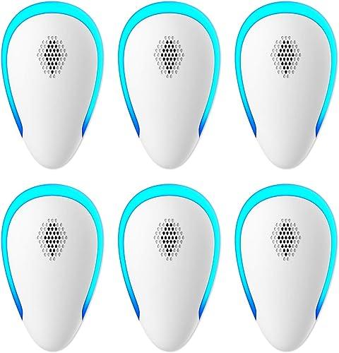 Ultrasonic Pest Repeller(6 Pack), 2021 Pest Control Ultrasonic Repellent, Electronic Repellant - Bug Repellent for Mi...