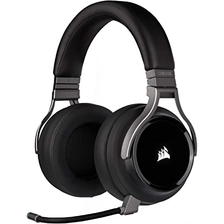 Corsair Virtuoso RGB Wireless Gaming Headset - High-Fidelity 7.1 Surround Sound w/Broadcast Quality Microphone - Memory Foam Earcups - 20 Hour Battery Life - Works with PC, PS5, PS4 – Carbon
